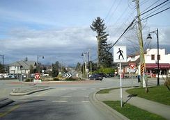 A typical high-density Canadian suburban scene in Langley, British Columbia.