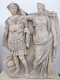 Sculpture of Agrippina crowning her young son Nero (c. AD 54–59)