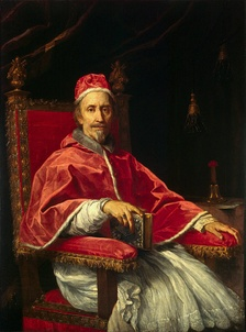 Pope Clement IX (1600–1669), whose intervention in the Formulary Controversy led to a 32-year lull (1669–1701) in the controversy over Jansenism known as the Peace of Clement IX.