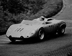 Hans Herrmann driving RS 61 at the Nürburgring 1962