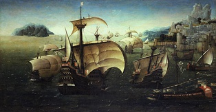 The carrack Santa Catarina do Monte Sinai and other Portuguese Navy' ships in the 16th century