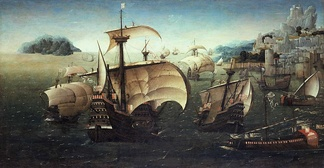 The carrack Santa Catarina do Monte Sinai and other Portuguese Navy' ships in the 16th century.