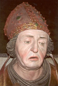 Late Gothic sculpture of Rupert of Salzburg (c. 660–710)