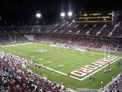 The new (2006) Stanford Stadium, site of home football games
