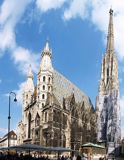 St. Stephen's Cathedral, Vienna, used as the informal headquarters of the Austrian resistance by Niklas Graf Salm, appointed head of the mercenary relief force.