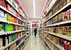 A typical supermarket carries an assortment of between 30,000 and 60,000 different products