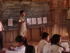 A primary school teacher in northern Laos