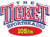 "Former ""105 The Ticket"" logo, 2013-2015"