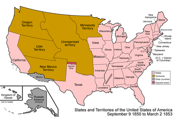 The United States after the Compromise of 1850