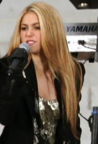 Shakira performing at the We Are One: The Obama Inaugural Celebration at the Lincoln Memorial in 2009