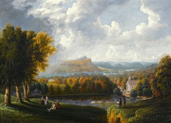 Robert Havell, Jr., View of the Hudson River from Tarrytown