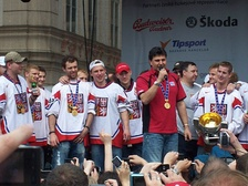 The Czech ice hockey world champions at Old Town Square (2010)