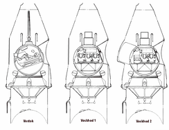 Korolev modified the one-person Vostok capsule into carrying three people, or two plus an airlock for spacewalk capability.