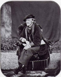 Composer Richard Wagner, who also wrote the libretti for his works