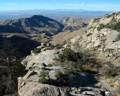 A view of Tucson from Windy Point, at an elevation of 6,580 feet (2,010 m), along the road up Mt. Lemmon