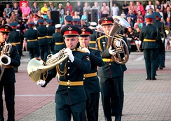 Regional and local garrisons/military districts in Russia also maintain their own musical support services, such as the Military Band of the Eastern Military District.