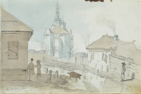 The Church of the Intercession of the Mother of God in Perejaslav, 1845