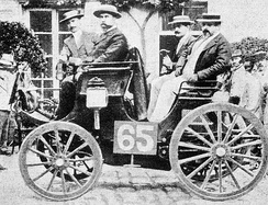 Albert Lemaître classified first in his Peugeot Type 5 3hp in the Paris–Rouen.