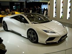 Front view of the proposed 2014 Lotus Esprit Styling Model