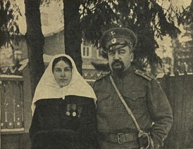 Kuprin and his wife during World War I