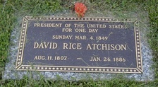 David Rice Atchison's tombstone