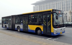 An articulated Beijing bus.