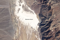Badwater Basin dry lake, February 15, 2007. Landsat 5 satellite photo