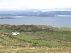 Barnhill on the Isle of Jura, Scotland. Orwell completed Nineteen Eighty-Four while living in the farmhouse.