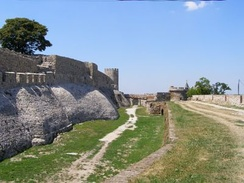 The medieval walls of the Belgrade Fortress, where the walls of the Roman castrum Singidunum had been discovered