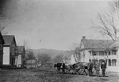 West Main Street in Brevard, circa 1886
