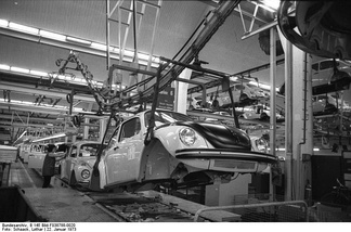 Volkswagen assembly line as of 1973