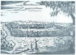 A view of Kazan by Adam Olearius, 1630