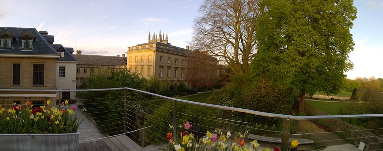 Panoramic view from the Handa Terrace overlooking the main garden
