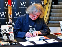 Don Powell signing copies of his biography Look Wot I Dun – My Life in Slade at Liverpool One's Waterstones in 2014