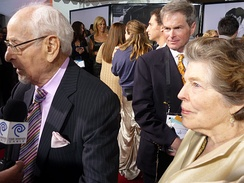 Jackson and her husband Eli Wallach in 2010