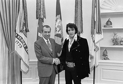 "Nixon and Elvis Presley in December 1970: ""The President & The King"""