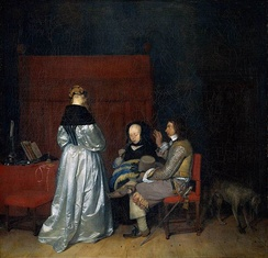 Gerard ter Borch, Paternal Admonition, or Brothel Scene (c. 1654; Amsterdam version).
