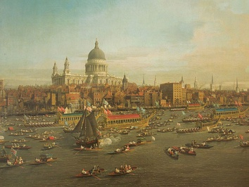 Canaletto: The River Thames with St. Paul's Cathedral on Lord Mayor's Day (1746; Lobkowicz Collections, Prague)