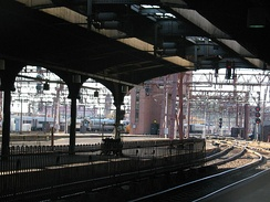 The trackage of Hoboken Terminal