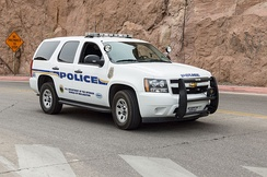 A Tahoe used for the Hoover Dam police