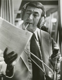 Howard Cosell, seen here in an earlier photograph, broke the news of Lennon's death on ABC's Monday Night Football