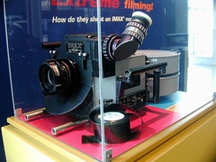 An IMAX cinema camera, displayed at the National Media Museum, Bradford, U.K.