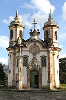 Church of Saint Francis of Assisi (Ouro Preto) in São João del Rei, 1749–1774, by the Brazilian master Aleijadinho