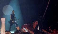 James Hetfield performing with the band during its tour for Load in 1996