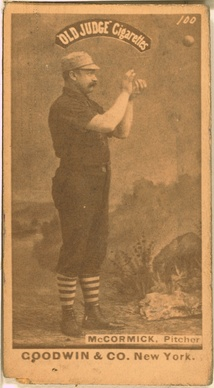 Pitcher Jim McCormick started five of the seven games for Chicago in the 1885 World Series between the two teams, going 3-2.