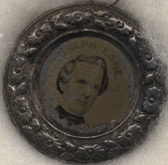 Joseph Lane campaign button in 1860