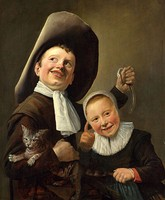Judith Leyster, A Boy and a Girl with a Cat and an Eel; various references to proverbs or emblems have been suggested.[53]