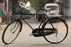 The most common model of vehicle in the world, the Flying Pigeon bicycle. (2011)