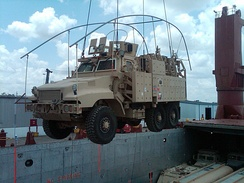 The last vehicle from Iraq returned to U.S. This vehicle arrived at the Port of Beaumont, Texas, on 6 May 2012, and was unloaded from the ship on 7 May 2012.[13]
