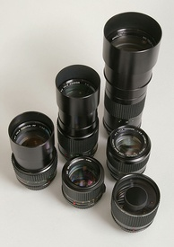 Some Minolta Rokkor tele photo lenses